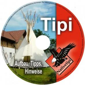 DVD - Aufbauvideo für ein Tipi, Lining, Ozan oder Holzpaket