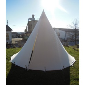 Abbildung zeigt vom Kunden bemaltes Zelt!