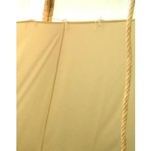 F-Lining für ein Tipi mit ca. 3,80m Durchmesser, mit Faulstreifen, inkl. Schnur und Heringe