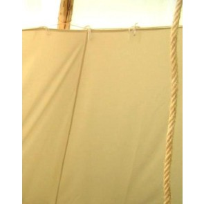 F-Lining für ein Tipi mit ca. 6m Durchmesser, mit Faulstreifen, inkl. Schnur und Heringe