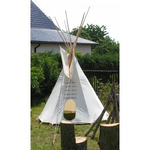 PAKET: 2m-Tipi, mit Stangen, Holzpaket, Ankerseil